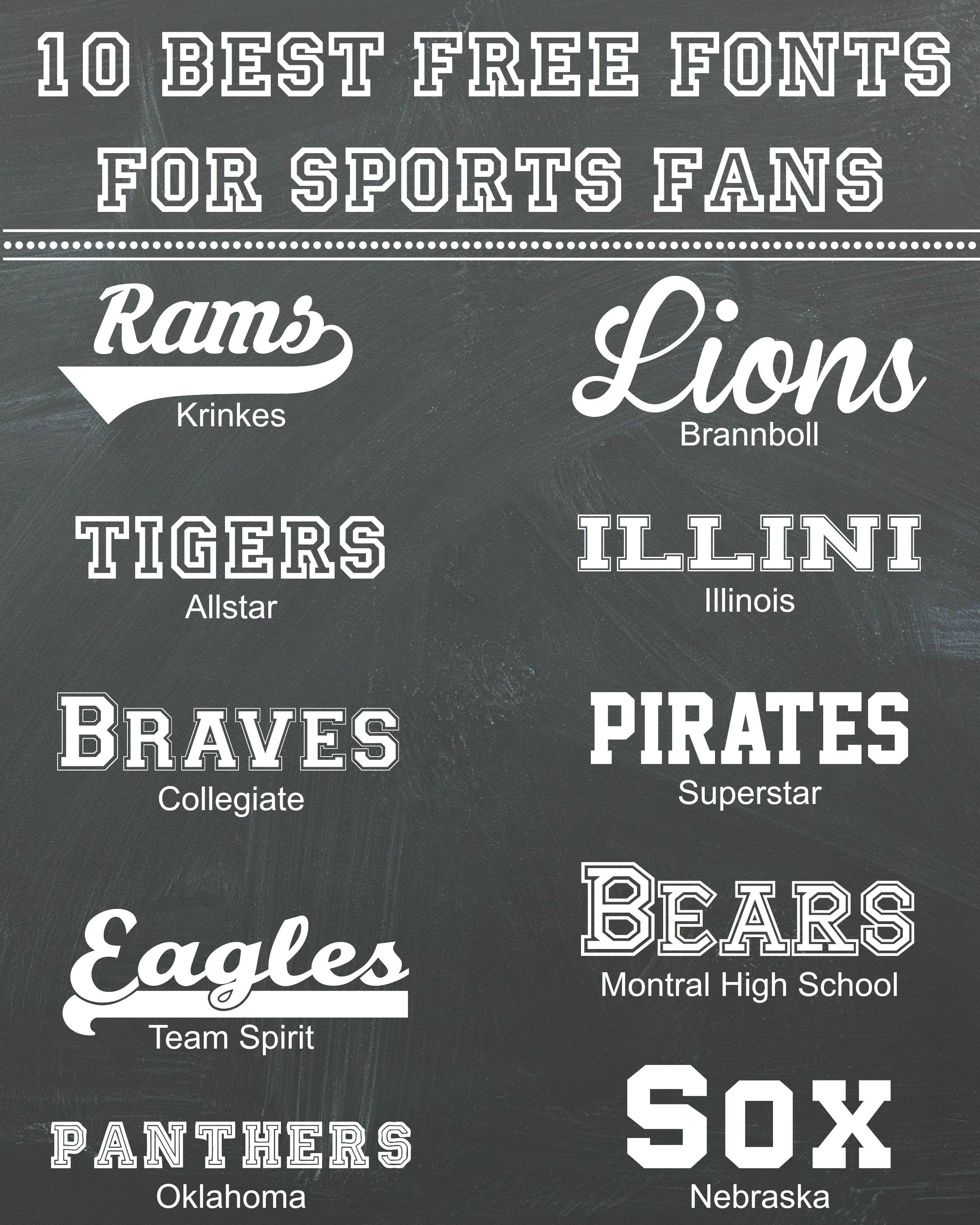 10 Best Free Fonts for Sports Fans - Rosewood and Grace